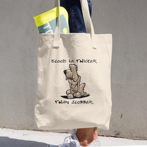 Blood is Thicker than Slobber Cotton Tote Bag - The Bloodhound Shop
