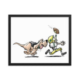 Football Hound Packers Framed poster - The Bloodhound Shop