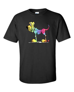 Tie-dye Hound Dark Short sleeve t-shirt | The Bloodhound Shop