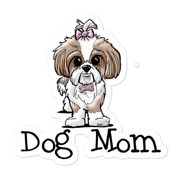 Shih Tzu- Dog Mom FBC Bubble-free stickers - The Bloodhound Shop