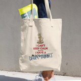 Tim's Keep Calm Droopy Rupert Cotton Tote Bag - The Bloodhound Shop