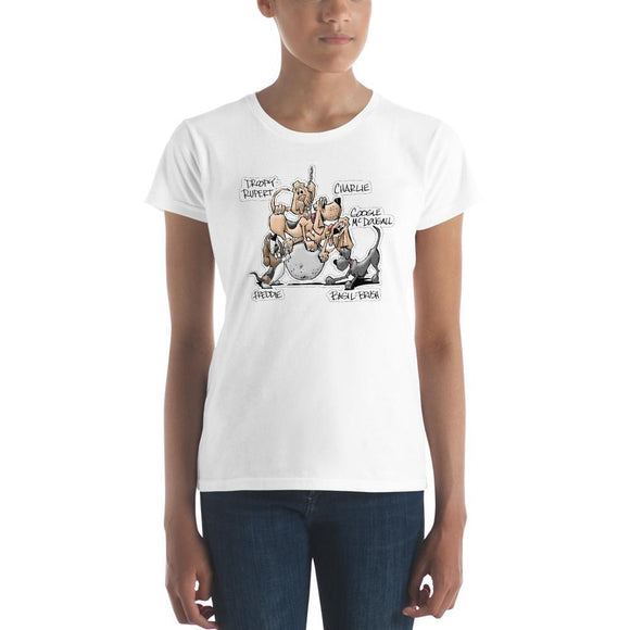 Tim's Wrecking Ball Crew w/ Names Women's short sleeve t-shirt - The Bloodhound Shop