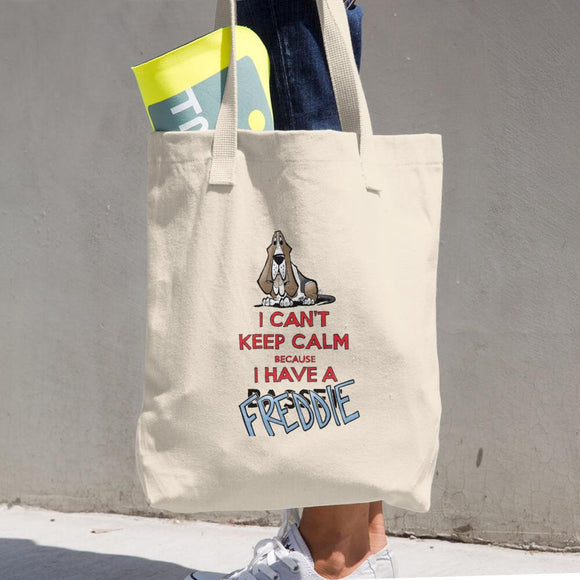 Tim's Keep Calm Freddie Cotton Tote Bag - The Bloodhound Shop
