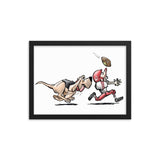 Football Hound Chiefs Framed poster - The Bloodhound Shop
