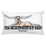 Longhorn Hound Rectangular Pillow - The Bloodhound Shop