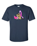 Breast Cancer Awareness Dark Short sleeve t-shirt - The Bloodhound Shop