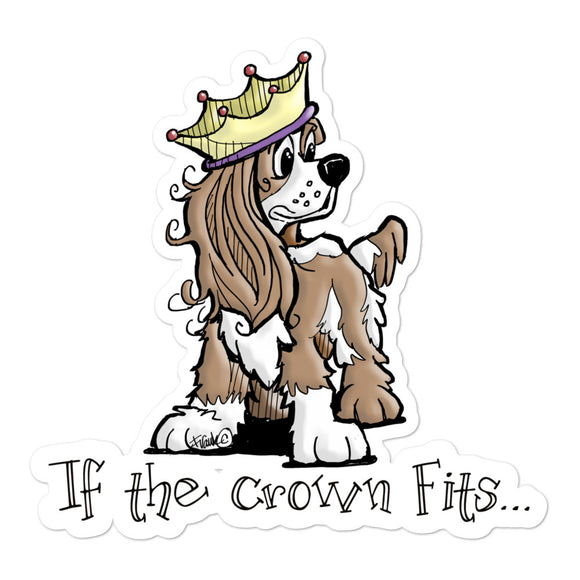 Cavalier- If The Crown Fits FBC Bubble-free stickers - The Bloodhound Shop