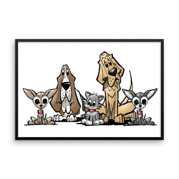 Blood is Thicker Lineup Framed poster - The Bloodhound Shop