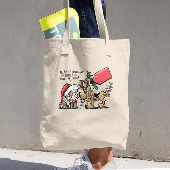 Max & Molly Christmas Cotton Tote Bag - The Bloodhound Shop