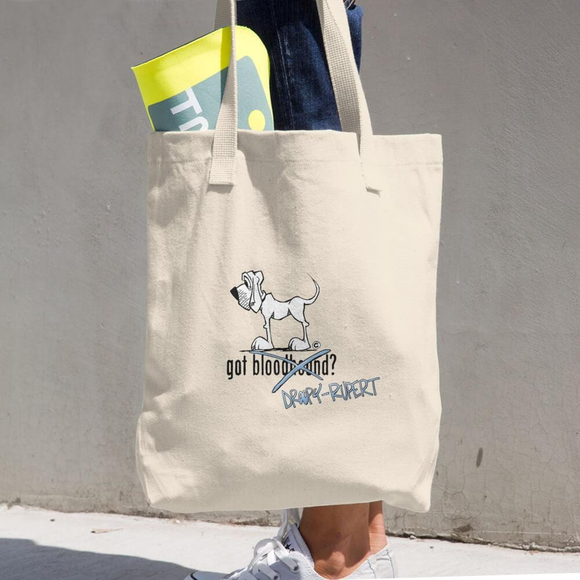 Tim's Got Droopy-Rupert? Cotton Tote Bag - The Bloodhound Shop