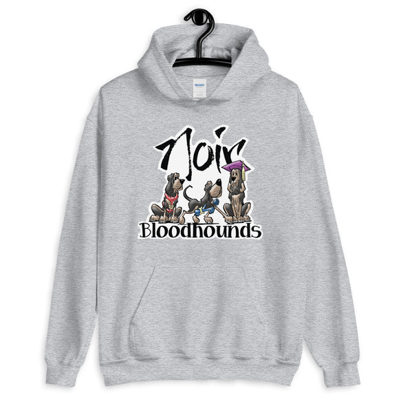 Noir Hounds Hooded Sweatshirt - The Bloodhound Shop