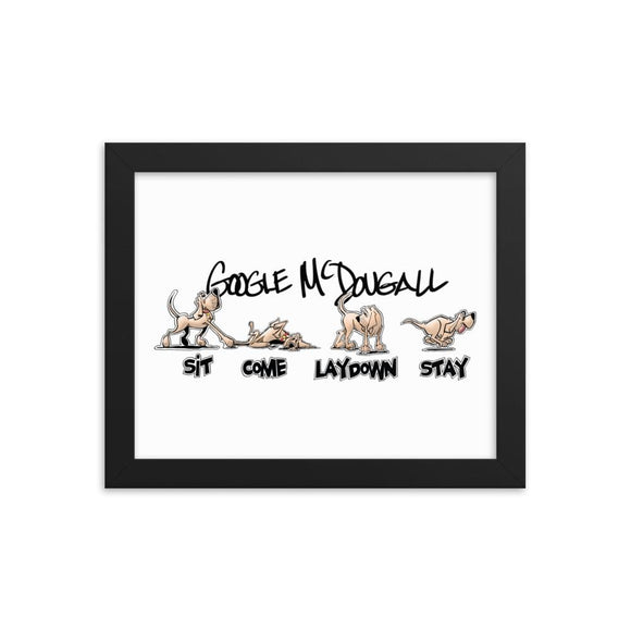 Tim's Wrecking Ball Crew Hound Commands Framed poster - The Bloodhound Shop