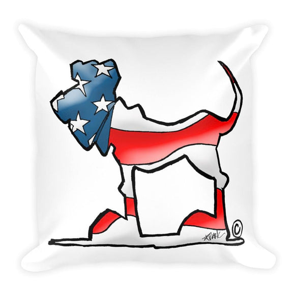 USA Hound Square Pillow | The Bloodhound Shop
