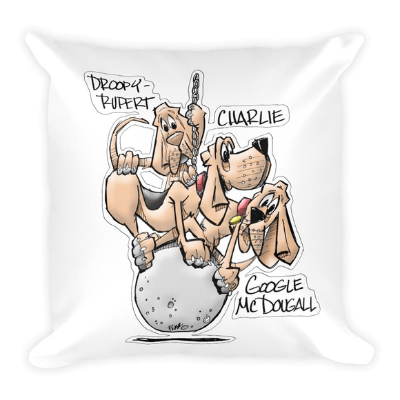 Tim's Wrecking Ball Crew 3 With Names Basic Pillow - The Bloodhound Shop