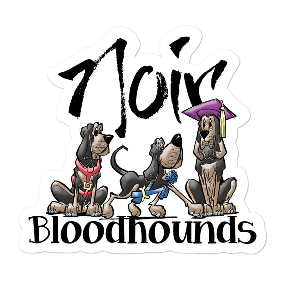 Noir Hounds Bubble-free stickers - The Bloodhound Shop