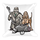 Hunter Hound Square Pillow - The Bloodhound Shop