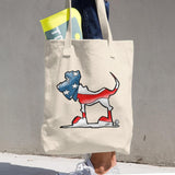 USA Flag Hound Cotton Tote Bag - The Bloodhound Shop