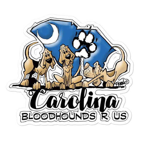 Carolina Hounds Bubble-free stickers - The Bloodhound Shop