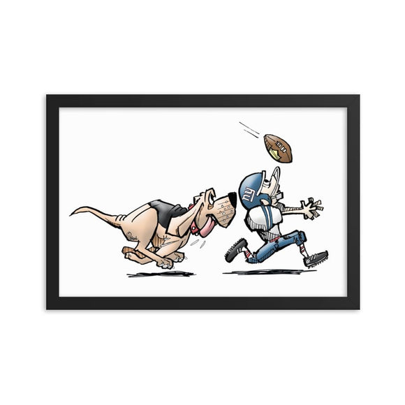 Football Hound Giants Framed poster | The Bloodhound Shop