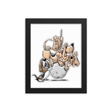 Tim's Wrecking Ball crew 4 No Names Framed poster - The Bloodhound Shop