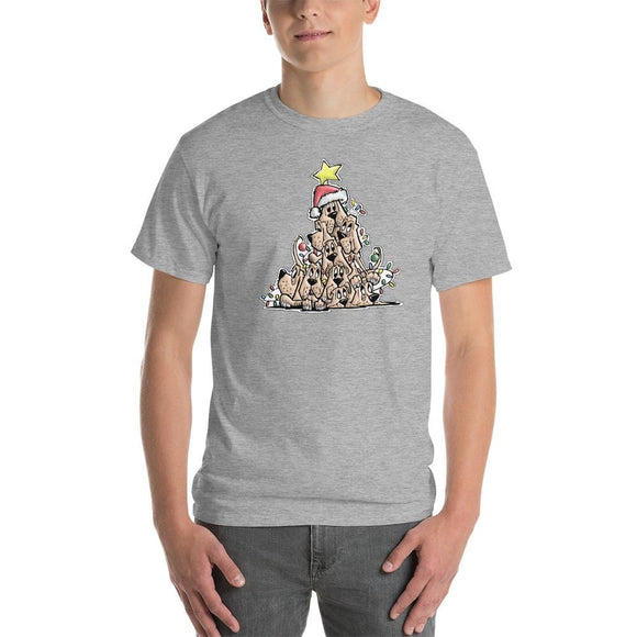 Christmas Tree Hound Short-Sleeve T-Shirt - The Bloodhound Shop