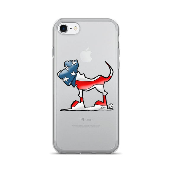 USA Flag Hound iPhone 7/7 Plus Case - The Bloodhound Shop