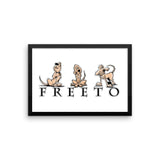 Freeto LineUp Framed poster - The Bloodhound Shop