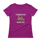 Honor Student Hound Ladies' Scoopneck T-Shirt - The Bloodhound Shop