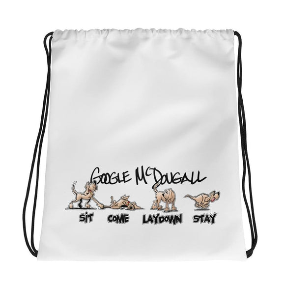 Tim's Wrecking Ball Crew Hound Commands Drawstring bag