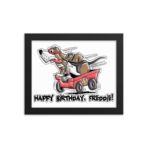 Tim's Wrecking Ball Crew Freddie's B-Day Framed poster | The Bloodhound Shop