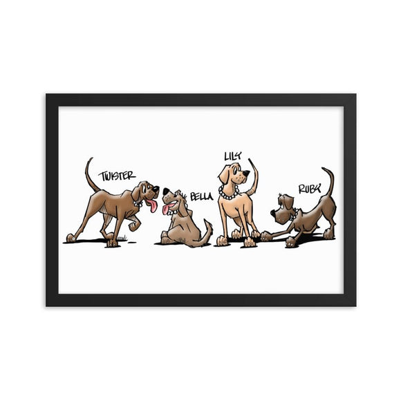 Valerie's Gang Framed poster - The Bloodhound Shop