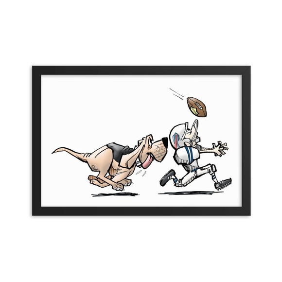 Football Hound Bills Framed poster - The Bloodhound Shop