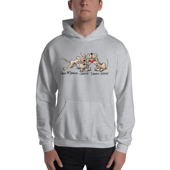Tim's Wrecking Ball Crew Heart Hound Hooded Sweatshirt - The Bloodhound Shop
