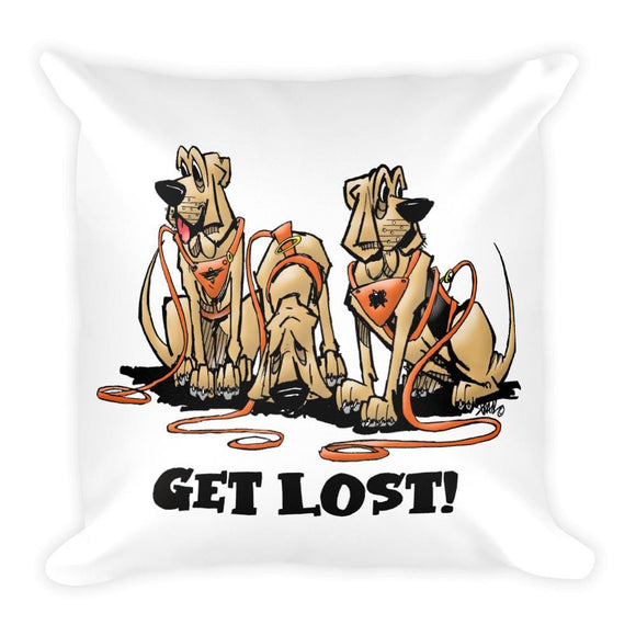 Get Lost Hounds Square Pillow