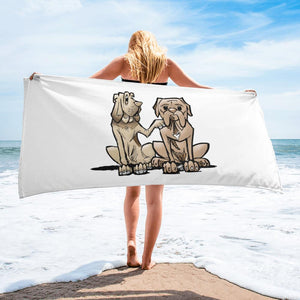 Hound and Bordeaux Towel - The Bloodhound Shop