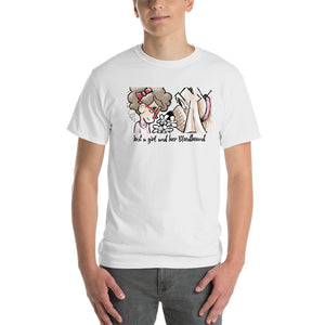 Girl and Her Hound Custom Short-Sleeve T-Shirt - The Bloodhound Shop