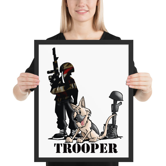 Trooper Framed poster - The Bloodhound Shop