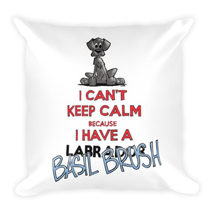 Tim's Keep Calm Basil Square Pillow