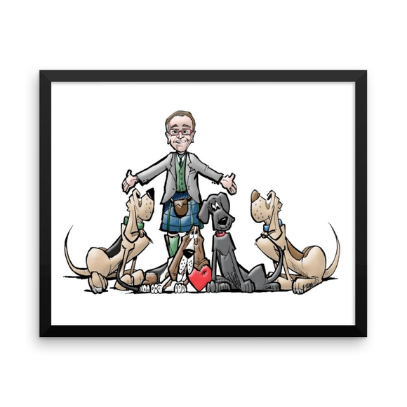 Tim's Hound Love Framed poster - The Bloodhound Shop