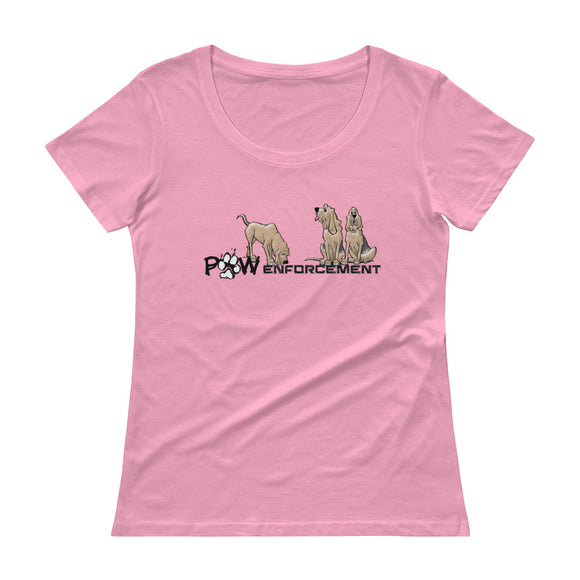 Paw Enforcement Ladies' Scoopneck T-Shirt