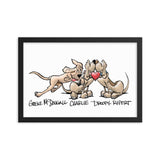 Tim's Wrecking Ball Crew Heart Hound Framed poster - The Bloodhound Shop