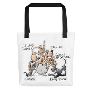 Tim's Wrecking Ball Crew 5 With Names Tote bag - The Bloodhound Shop