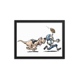 Football Hound Giants Framed poster - The Bloodhound Shop