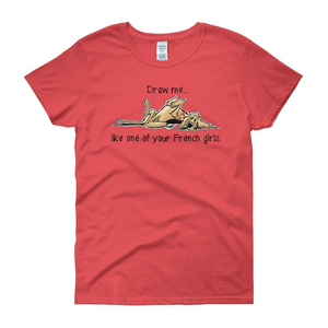 French Girl Hound Women's short sleeve t-shirt - The Bloodhound Shop