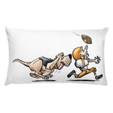 Football Hound Browns Basic Pillow - The Bloodhound Shop