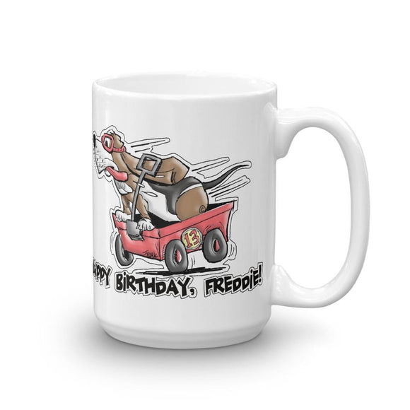 Tim's Wrecking Ball Crew Freddie's B-Day Mug | The Bloodhound Shop
