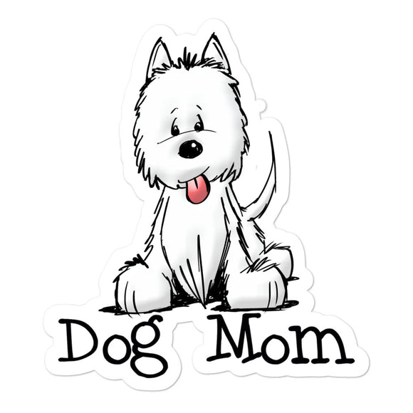 Westie- Dog Mom FBC Bubble-free stickers - The Bloodhound Shop