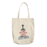 Tim's Keep Calm Basil Cotton Tote Bag - The Bloodhound Shop