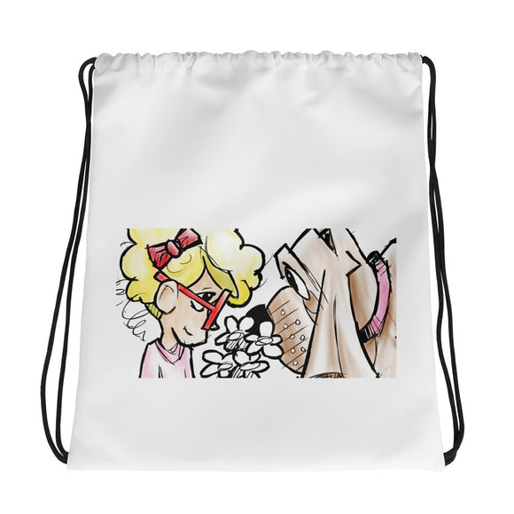 Girl and Her Hound Drawstring bag - The Bloodhound Shop