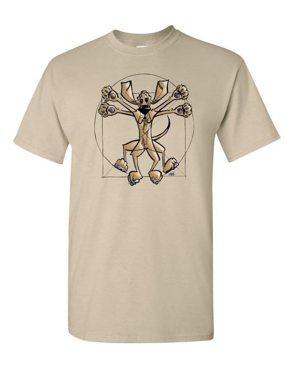 Da Vinci Hound Short sleeve t-shirt - The Bloodhound Shop